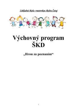 názov výchovného programu - Základná škola s materskou školou