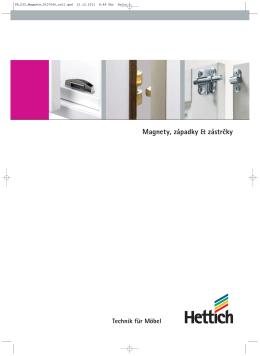 Katalog Magnety, západky & zástrčky
