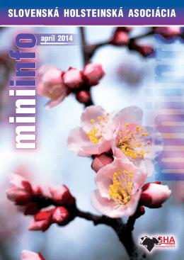 MiniInfo 04/2014 - Slovenská holsteinská asociácia