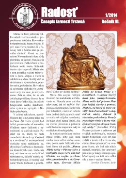 Farský časopis Radosť 1/2014