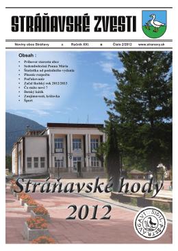 zvesti 2/2012 - Obec Stráňavy