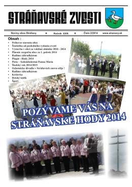Zvesti 2_2014 - Obec Stráňavy