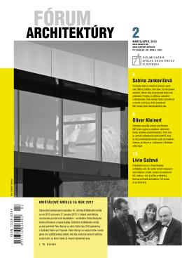 forum2_13 tlac.pdf - Spolok architektov Slovenska