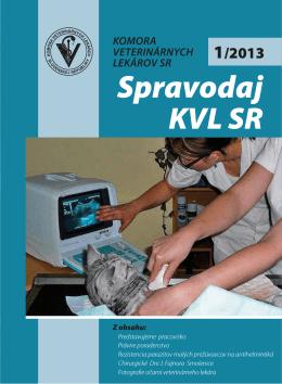 Spravodaj 1-2013_obalka.indd - Komora veterinárnych lekárov SR