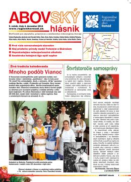 4/2014 - Regionálne združenie obcí Hornád