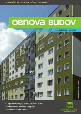 • Tepelné izolanty na obnovu domov a budov