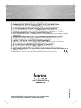 Hama GmbH & Co KG D-86651 Monheim/Germany www.hama.com