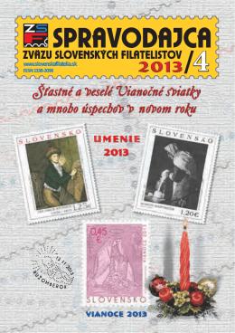 Umenie 2013 - Zväz slovenských filatelistov