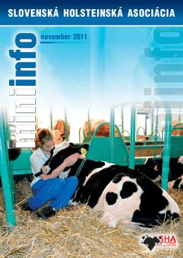 MiniInfo 11/2011  - Slovenská holsteinská asociácia