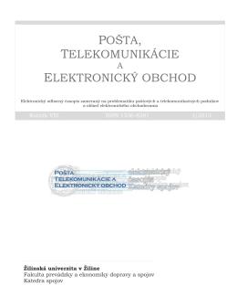 pošta, telekomunikácie elektronický obchod