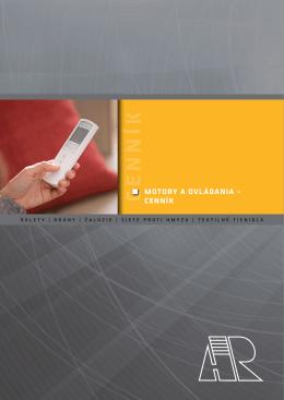 Motory a ovládania – cenník bez DPH (pdf)