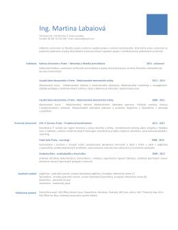 Ing. Martina Labaiová