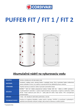 PUFFER FIT / FIT 1 / FIT 2