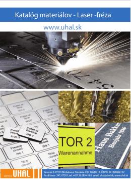 Katalóg materiálov pre laser a frézu