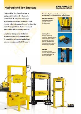 Hydraulické lisy Enerpac