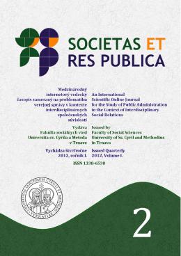 PDF - societas et res publica - Univerzita sv. Cyrila a Metoda v Trnave