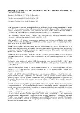 QuantiFERON-TB Gold TEST PRI BIOLOGICKEJ LIEČBE