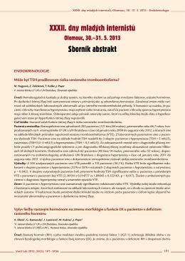 XXXII. dny mladých internistů Sborník abstrakt