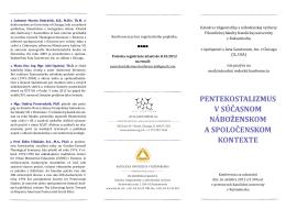 pentekostalizmus v súčasnom náboženskom a spoločenskom