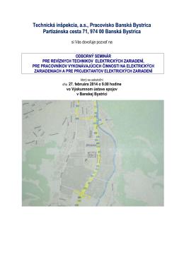Technická inšpekcia, a.s., Pracovisko Banská Bystrica Partizánska