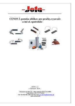 PC 2014 -Uhlíkov pre pračky a vysavače