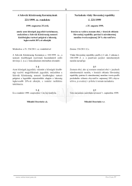 221/1999. sz. rendelete č. 221/1999