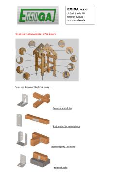 Tesárske a drevokonštrukčné prvky