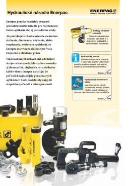 Hydraulické náradie Enerpac