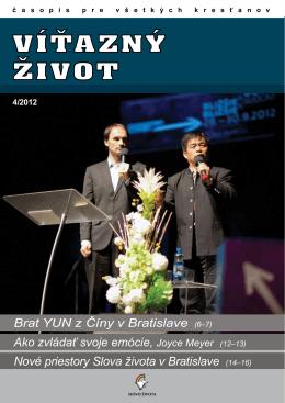 Brat Yun z Číny v Bratislave (6–7) Ako zvládať svoje