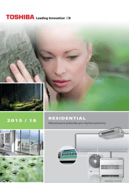 Klimatizácia Toshiba Residential 2015/2016