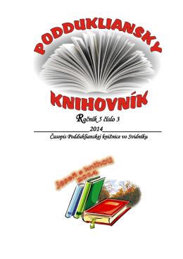 Poddukliansky knihovník - Podduklianska knižnica vo Svidníku