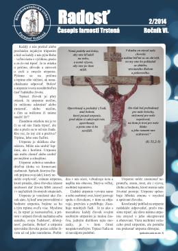 Farský časopis Radosť 2/2014
