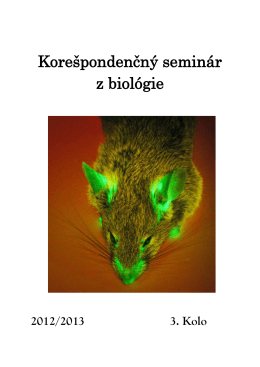 3. Kolo - Korešpondenčný seminár z biológie