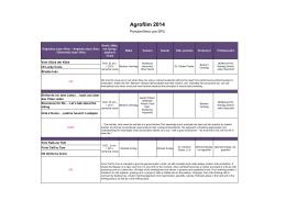 Agrofilm 2014 - Slovenská poľnohospodárska univerzita v Nitre