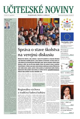 Správa o stave školstva na verejnú diskusiu - Domov