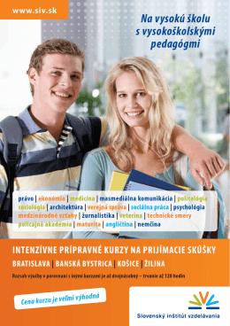 Prípravný kurz na - Slovenský inštitút vzdelávania