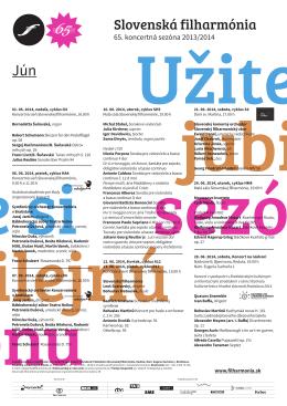 Program koncertov - Slovenská filharmónia