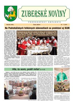 Zuberské noviny 2/2014 Formát PDF