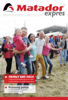 FAMILY DAY 2014 Putovný pohár