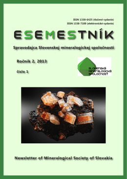 Esemestník 2/1 - Slovenská mineralogická spoločnosť