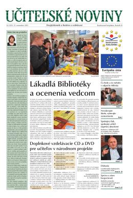 Učiteľské noviny 34/2013