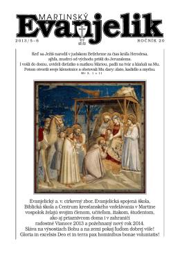 MARTINSKÝ EVANJELIK 5 - 6 / 2013 (pdf)