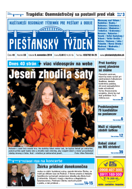 Jeseň zhodila šaty - Piešťanský denník