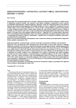 DERMATOMYOZITÍDA – PATOGENÉZA, KLINICKÝ
