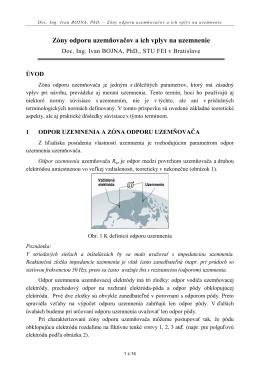 Zóny odporu uzemňovačov a ich vplyv na uzemnenie - SEZ-KES