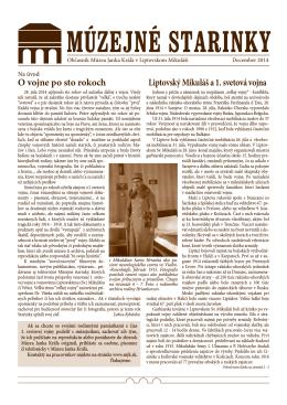 Múzejné starinky 2014 - STIAHNUŤ PDF