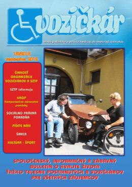 Vozičkár 1/2/2012 - Republiková špecifická organizácia SZTP