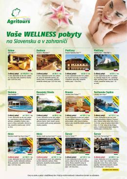 Vaše wellness pobyty