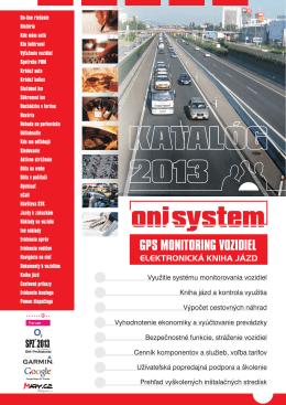 Katalóg ONI systému na rok 2013