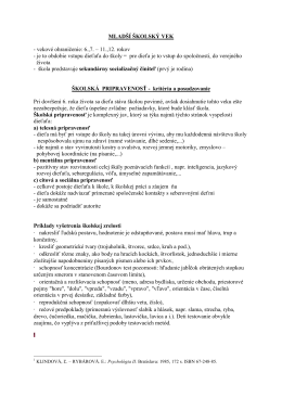 Mladší školský vek - školská pripravenosť.doc